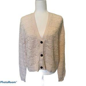 🆕 Sonoma cream three button open weave cardigan